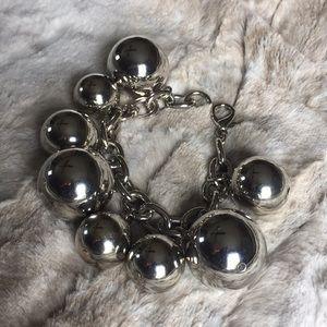 Banana Republic Silver Ball Bracelet